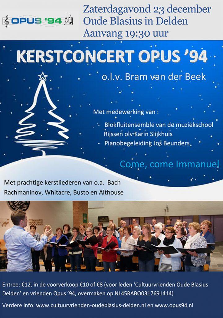 Officieel affiche: Kerstconcert Opus '94